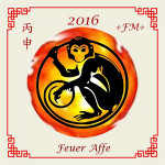 Zeichen zum chinesischen Feuer Affen Jahr 2016